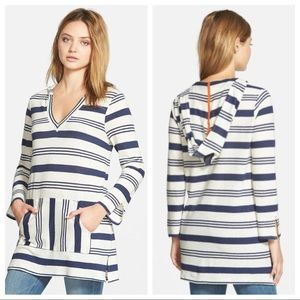 soft joie / gilby v-neck hoodie pullover striped